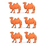 6pcs Cute Camel Animal Characters Toys Figurines Playset, Garden Cake Decoration, Cake Topper, Cake Decoration