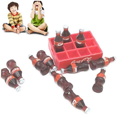 1 Juego Miniatura Coca-Cola Modelo Dollhouse Bebidas decoración del Dollhouse casa de...