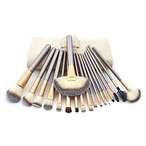 18 PCs Maquillage Pinceau Premium Kit De Pinceau De Maquillage Synthétique Silver Foundation Blending Blush Visage Poudre Brush Brosse à maquillage XXYHYQ
