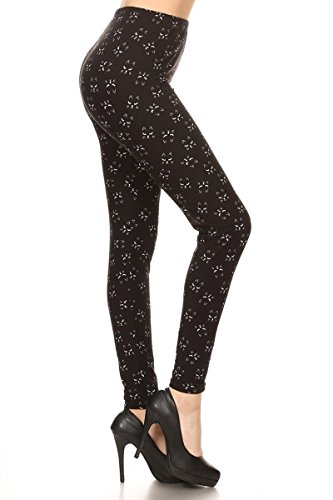 R988-PLUS Long Lash Cat Printed Leggings