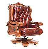 Classic Penn Executive Recliner Chair (Home/Office) Genuine Leather with Solid Oakwood 450Lbs Weight Capacity