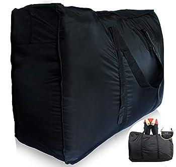 Plago 262Liter Professional Quality Nylon Extra Large Duffel Bag Lightweight Foldable Water Resistant Cargo for Travel College Folding Bike Tent Mattress Closet Storage