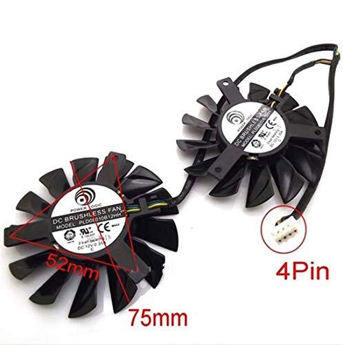 QHXCM 2pcs/Lot for PLD08010S12HH 12V 0.35A 75mm for MSI Hawk Twin Frozr GTX650 HD7950 R7870 HD7870 Cooling Fan Cooler