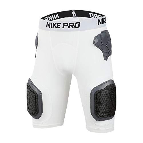 Nike Youth Pro Hyperstrong Football Shorts (White/Black, Large)