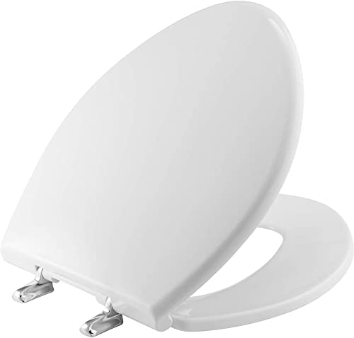 lowest BEMIS 1000CPT Paramount Heavy Duty OVERSIZED Closed Front Toilet sale Seat with 1,000 high quality lb Weight limit will Never Loosen & Reduce Call-backs, ROUND/ELONGATED, Plastic, White outlet online sale