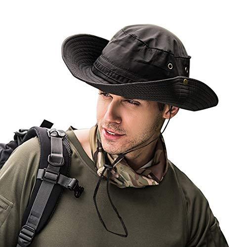 xupu Sombrero para el Sol Protección UV Sombrero de Cubo Pesca Caza Safari Verano Hombres Sombrero de Sol Sombrero de Pescador Hombres y Mujeres Gorras al Aire Libre Sombrero de Cubo de Paja