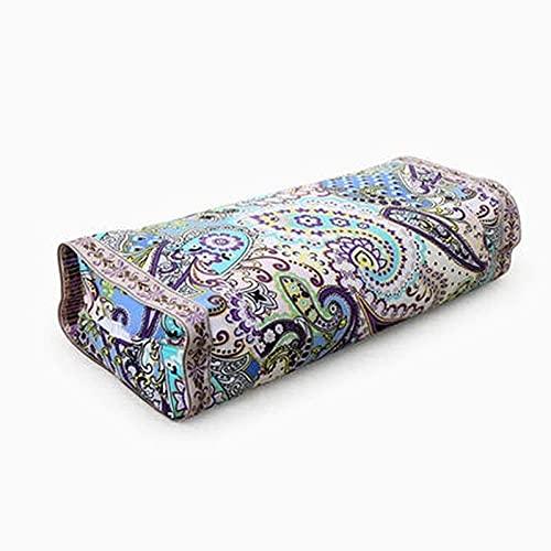 JONJUMP - Cuscino per la salute in mussola di cotone con grano saraceno, cuscino regolabile da viaggio cervicale