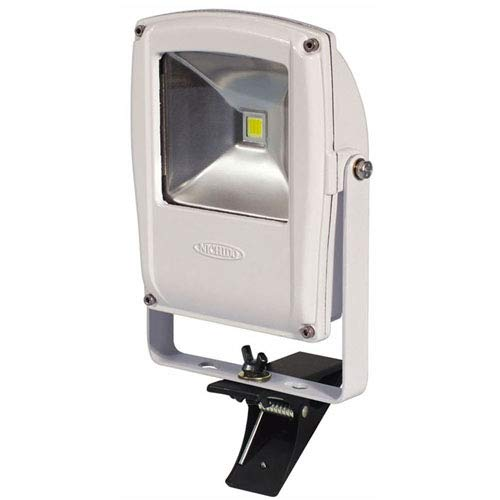 日動 フラットライト10W 昼白色 本体白 クリップタイプ LEN-F10C-W 投光器(LED)