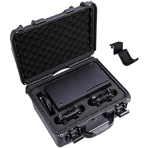 ZENACCE Waterproof Hard Case Compatible with Xbox Series X case, Travel Carrying Case Holds Xbox Series X Console, Wireless Controllers, Cables and Other Accessories
