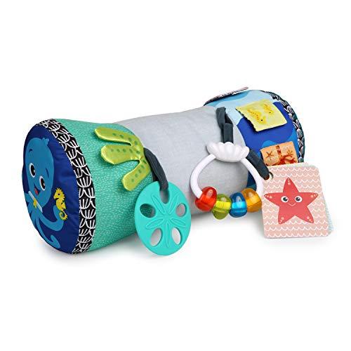 Baby Einstein, Rhythm of the Reef Sützkissen mit multisensorischen Spielzeugen, ideal für das Spielen in Bauchlage geeignet