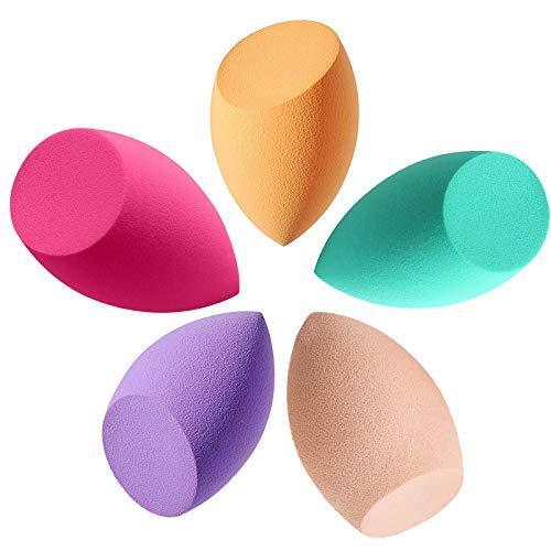 5 Unidades Esponja Maquillaje, Set de Makeup Blender Beauty para Base de Maquillaje, Ideal para Líquidos, Cremas y Polvos