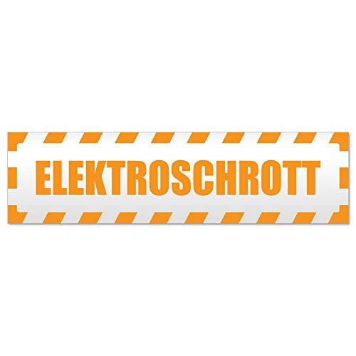 Kiwistar Elektroschrott gestreift Hinweis Aufkleber Sticker laminiert wetterfest