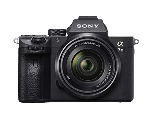 Sony Alpha 7 III - Cámara evil de fotograma completo con objetivo Zoom Sony 28-70mm f/3.5-5.6 (Enfoque automático 0.02s, estabilización de imagen óptica de 5 ejes, 4K HLG, mayor duración de Batería)