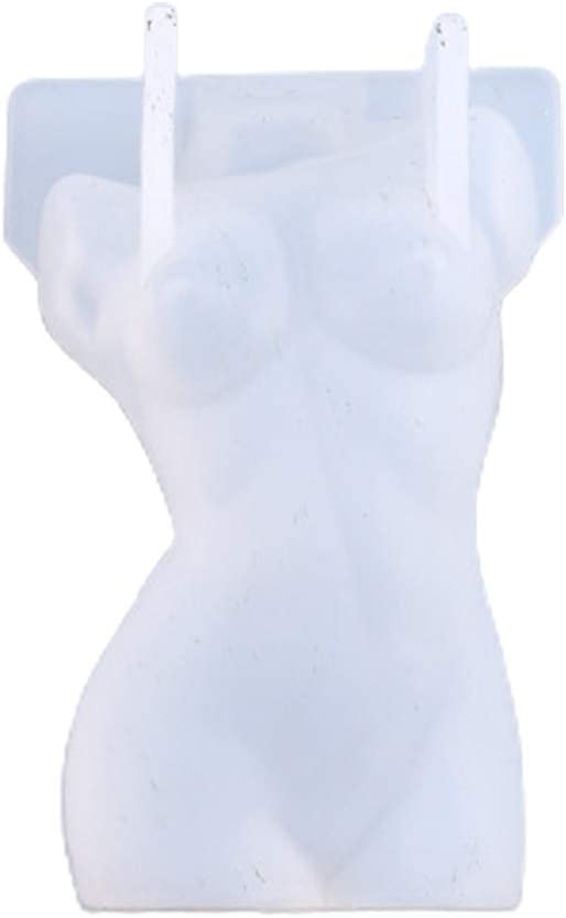 zrshygs Art Body Candle Epoxy Resin Mold Human Aromatherapy Plaster Wax Silicone Mould