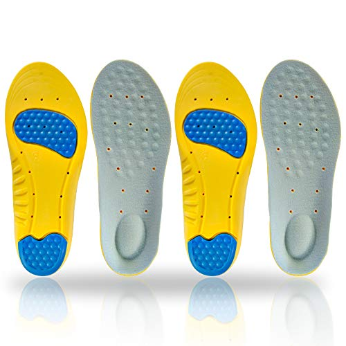 Shoe Insert Men Women and Kids (2pairs) Best Shock Absorption & Cushioning Insoles Anti-Fatigue Running Shoes Insoles with Premium Quality Memory Foam Heel Pain Relief