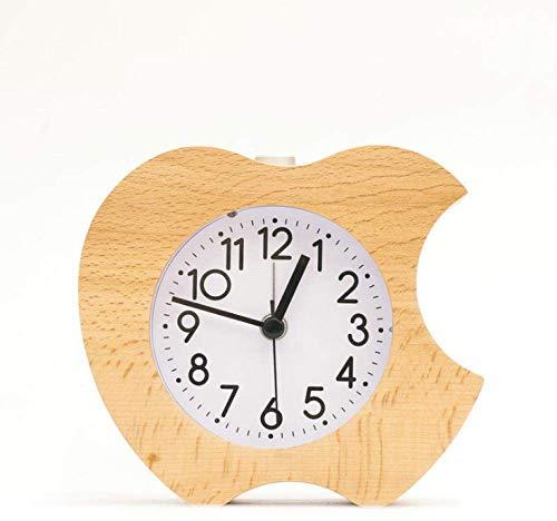 Klok Creatieve Bedzijde Vintage houten Leuke Alarm appel creatieve houten Leuke Alarm nachtkastje kantoor bel decoratie