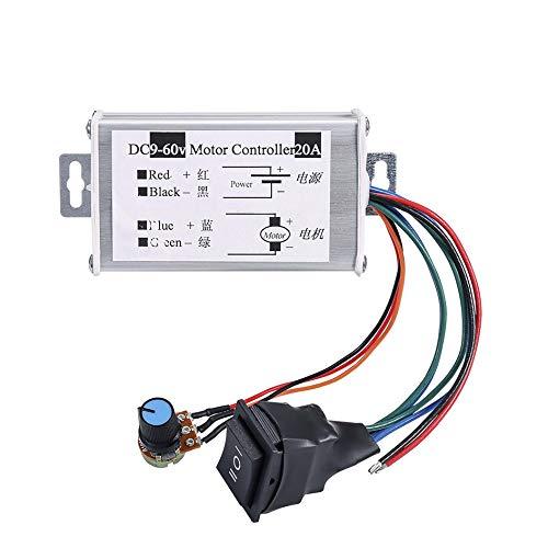 DC Motor Geschwindigkeitsregler, Hima Brush Motor Driver Controls Modul DC 9 V-60 V 12 V 24 V 36 V 48 V 60 V Motor Pulsbreite Modulator Regler 20 A 1200 W PWM Monitor Dimmer Regler