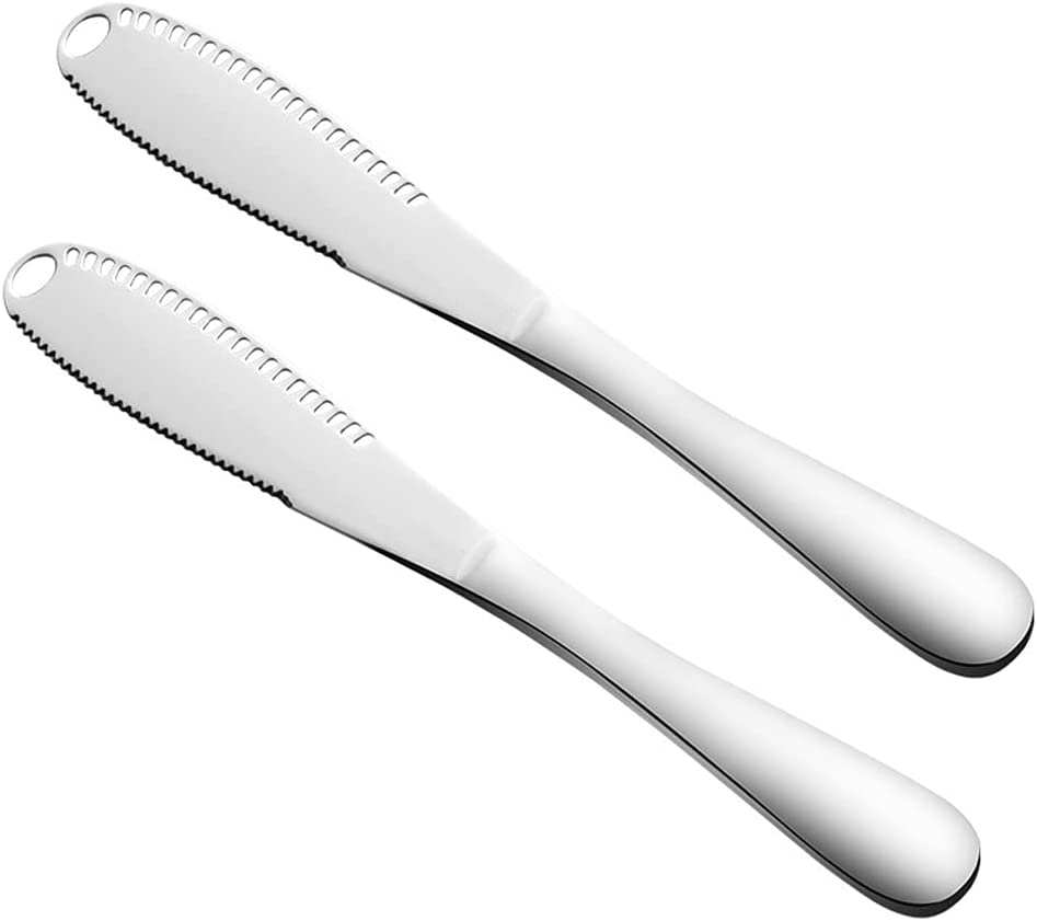 Butter knife Now free shipping Stainless Steel Silver Max 67% OFF 2pcs Spreader
