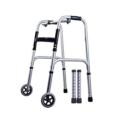 XCY Gehhilfe Medical Instruments Aluminiumlegierung Walker Gehen, Tragen 2 Casters/Kissen Hilfs Walkers, Eine Vielzahl Von Stilen Erhältlich,B