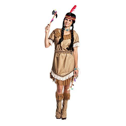 Kostümplanet® Indianerin-Kostüm Damen Indianer-Kostüm sexy Squaw Faschings-Kostüm Größe 40/42