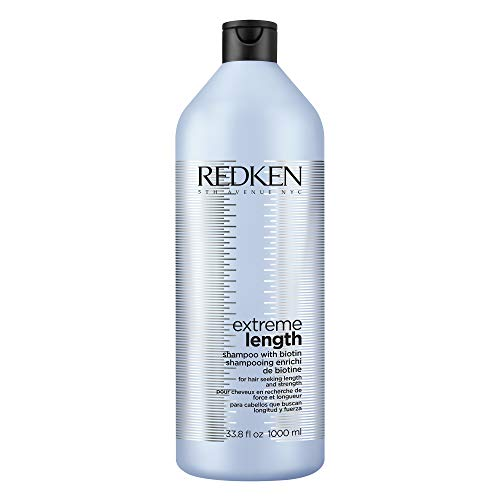 Redken Extreme Length Shampoo   For Hair Growth   Prevents Breakage & Strengthens Hair   Infused With Biotin   33.8 Fl Oz