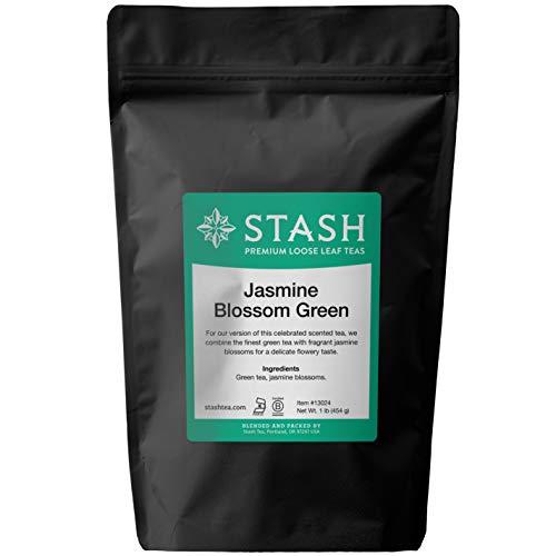 Stash Tea Jasmine Blossom Green Tea Loose Leaf Tea, 16 Ounces