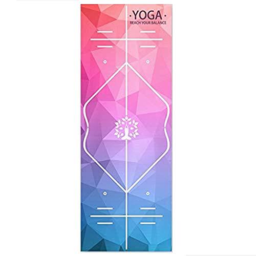 DZDESIGN Yoga Mat Toalla Microfibra Absorber el Sudor Toalla de Yoga Gel de sílice Manta de Yoga Antideslizante Cubierta de Estera Pilates, 8