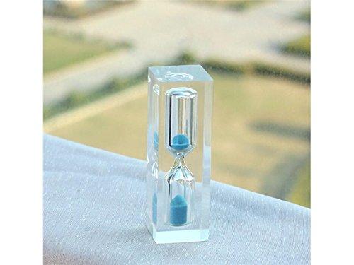 Flowerrs Maison 3 Minutes Hourglass Creative Mini Enfants Se brosser Les Dents minuterie (Bleu) pour Se Baigner