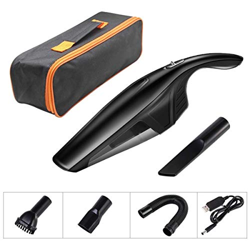 Buy Bargain QIYUE Handheld Vacuum, Portable Car Vacuum Cleaner High Power Cordless Rechargeable 7.2V...