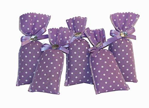 Handmade Design - Lavendelsäckchen - Duftsäckchen - mit echtem Lavendel (Duftsäckchen - Set - mit 5 x 10 g Lavendel, 6 x 11 cm)