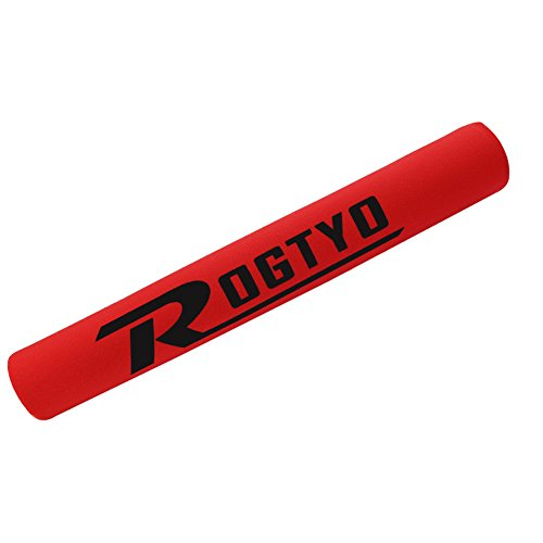 Extrbici Protège-base pour VTT, vélo de route Bande de protection de cadre de chaîne de vélo Tissu souple, durable, protection chain frame-red, red