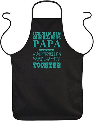 Goodman Design ® Vater Kochschürze - Sprüche Grillschürze Papa : Geiler Papa fabelhaften Tochter - Geschenk Schürze Vatertag Geburtstag