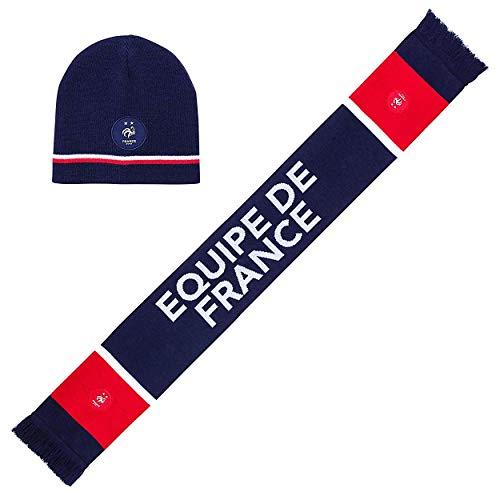 Coffret-Cadeau Bonnet Écharpe Équipe de France Officiel - Bleu
