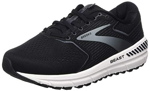 Brooks Mens Beast '20 Running Shoe - Black/Ebony/Grey - D - 12