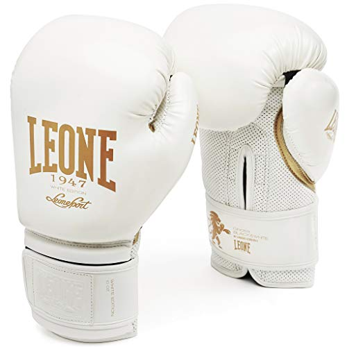 LEONE 1947 GN059 Guantes de Boxeo, Unisex – Adulto, Blanco, 16OZ