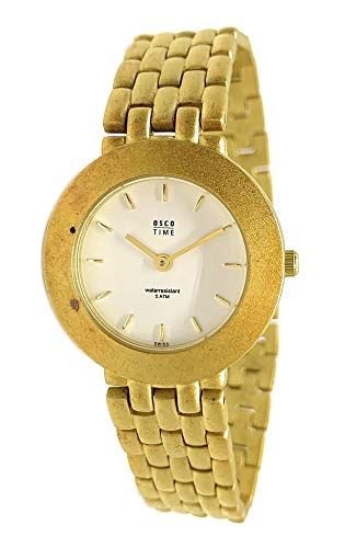 OSCO Damen-Armbanduhr Analog Quarz 2443 (Gold)