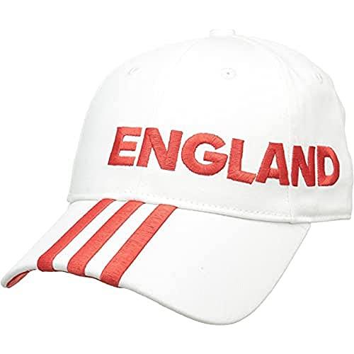 adidas CF 3S cap ENG Cappellino, Unisex, Bianco/Rosso (Aj4735-Bianco/Rosso), M