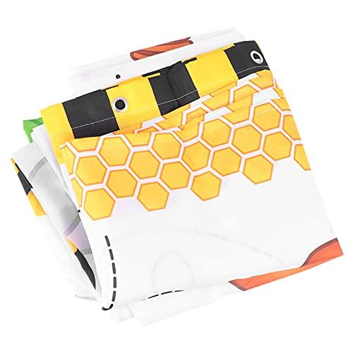 Angoily Stoff Dusche Vorhang Waschbar wasserdichte Bad Bad Vorhang Fliegen Bienen Nette Cartoon Dusche Vorhang für Kinder Baby