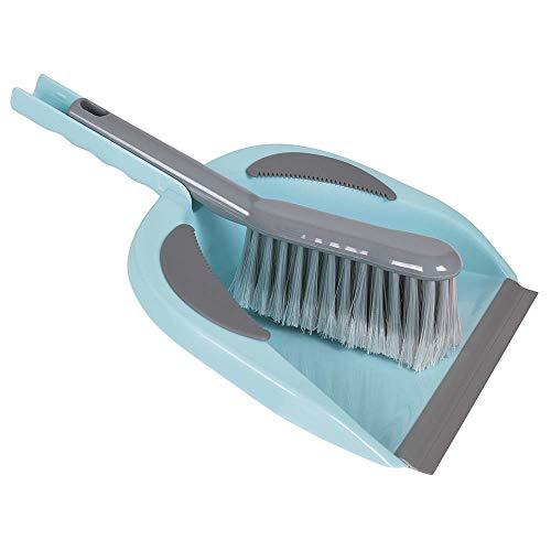 Pá de Lixo com Escova, Azul/Cinza, Mor