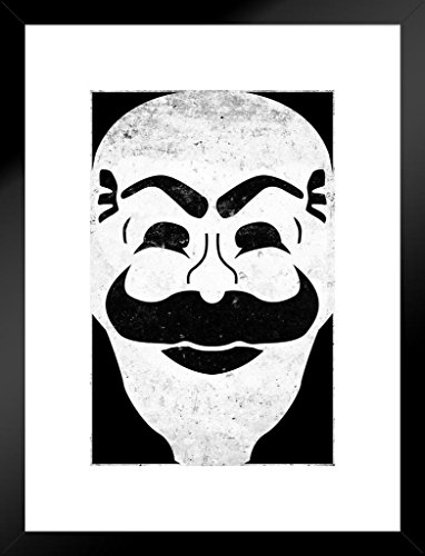 Poster Gießerei Fsociety Maske Gesicht Propaganda TV Show 20x26 inches Matted Framed Poster