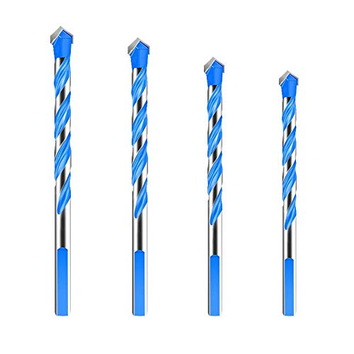 Drill Bit Ceramic Glass Punching Hole Working 6-12mm Electric Dril Bit Accessory Power Tool Set-4pcs Set