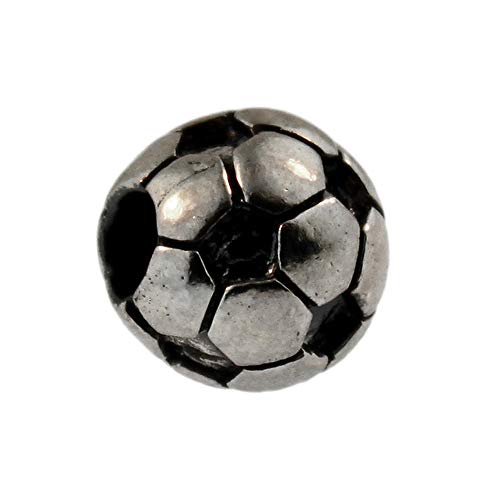 Auténtica plata de ley Trollbeads 11519balón de fútbol