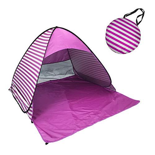 Moligin Strandmuschel, Automatisches Strandzelt, Pop-up Strandmuschel Sonnen Shelter Beach Shade Tragbares Zelt Für Outdoor-aktivitäten Strand Reisen Lila
