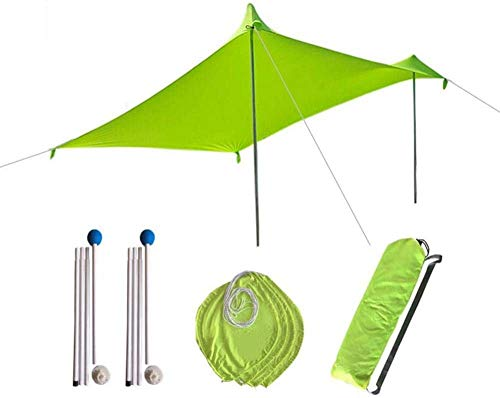 Sunshade Beach, Beach Shade Tent Sun Shelter Beach Sunshade Lightweight Portable Sunshade Tent With Sandbag UV Lycra Large Family Canopy For Outdoor Fishing