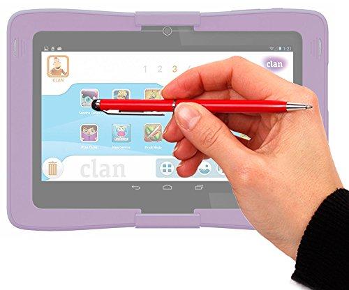 DURAGADGET Lápiz Stylus Rojo + Bolígrafo (2 En 1) para La Tablet De Niños Cefatronic Tablet Clan/Clan 2 / Clan Tortugas Ninja/Advanced