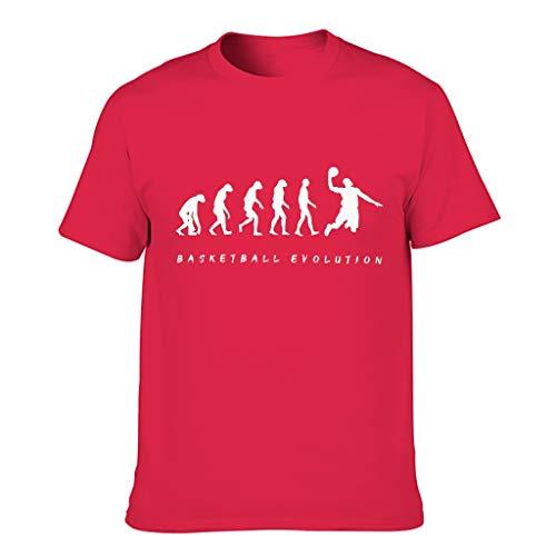Camiseta de baloncesto Evolucin 100% polister para hombre, patrn de estilo europeo con sensacin cmoda regalo para novio