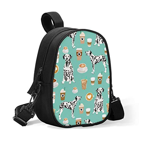 Dalmatians Cute Mint Coffee Best Dalmatian Dog Insulated Breast Baby Bottle Bag Cooler Moistureproof Bag Milk Storage Bags with Adjustable Strap,Large Capacity