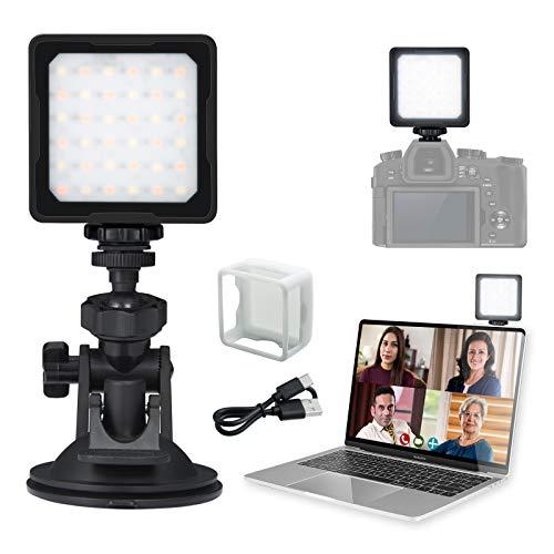 Flashoot CL-36 Videokonferenz Licht, LED-Licht 2800K-5000K CRI 95+ mit Saugnapf Diffusor für MacBook Computer Tablet Fernarbeit Fernunterricht Zoom-Anrufbeleuchtung Selbstübertragung Live-Streaming