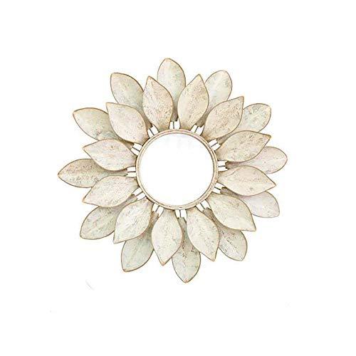 Hierro Forjado decoración de la Pared, decoración Espejo montado en la Pared de Lotus Forma, Creativo Inicio decoración de la Pared Colgante, Estilo Americano