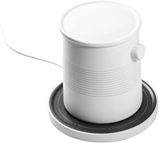 BEEFO Constant-temperature Cup & Wireless Charging Platform,Helipad Modelling,Constant Temperature 45℃,Safely Use for Home/Office to Warm Coffee/Tea/Milk/Juice,Best Gift Idea for Birthday